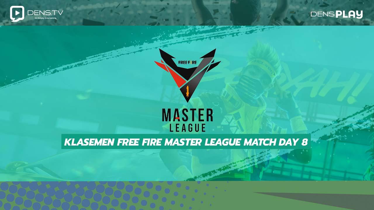 Klasemen Free Fire Master League Match Day 8