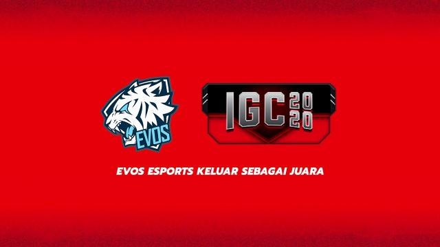 Evos Esports Keluar Sebagai Juara IGC 2020