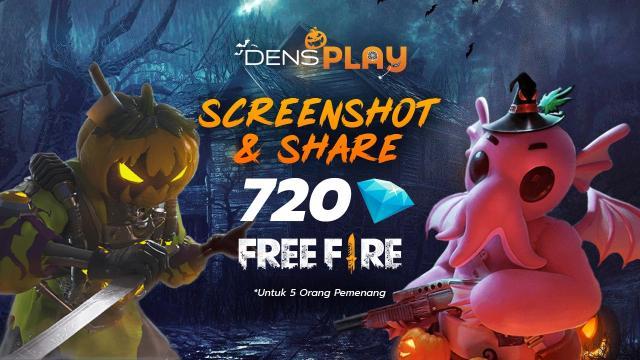 DensPlay Halloween Kontes, Gratis 702 Diamonds Free Fire