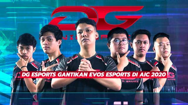 DG Esports Gantikan Evos Esports Di AIC 2020